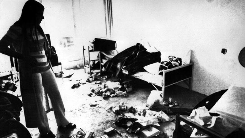 Az izraeli sportolók szobája a túszdráma vége után