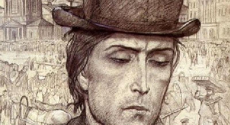 Raszkolnyikovot sápadt, vékony testalkatú diákként ábrázolják a regényben. /Forrás: freetour.com/)
