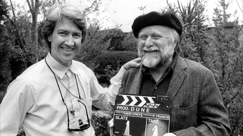 Lynch és Herbert a forgatás első napján