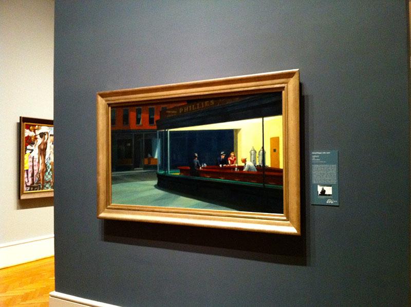 Hopper leghíresebb műve a The Art Institute of Chicago állandó kiállításán tekinthető meg