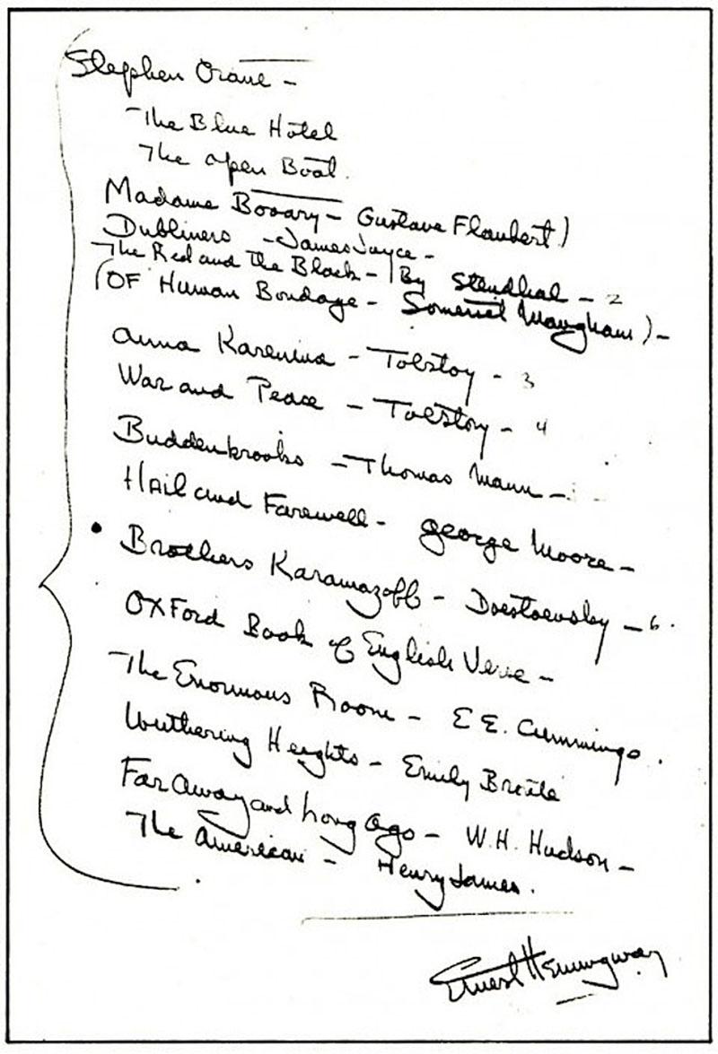 Hemingway ajánlója