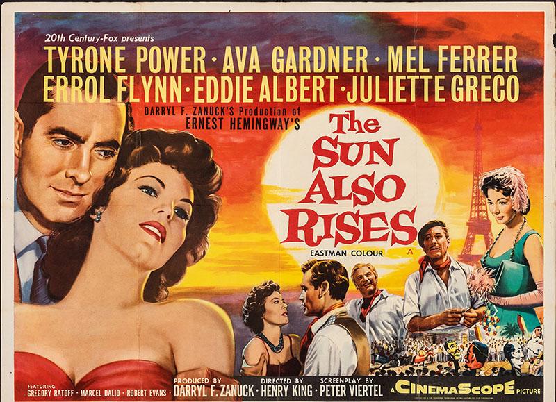 A nap is felkel 1957-es filmváltozatának plakátja