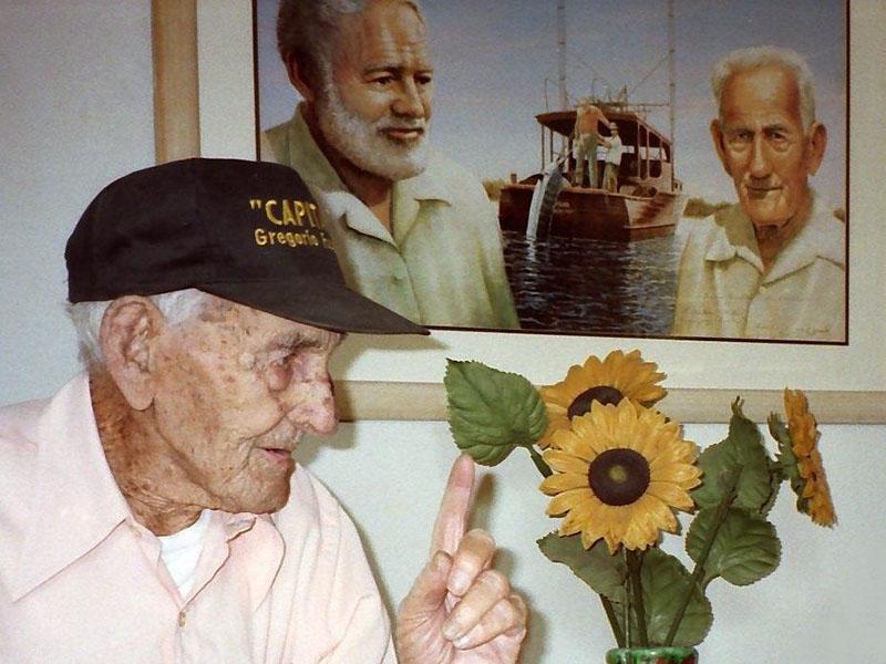 Gregorio Fuentes, akiről Hemingway az öreg halász alakját mintázta