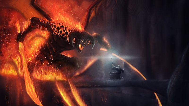 Gandalf megküzd a Balroggal
