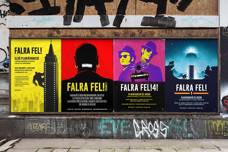 A Falra fel! plakátaukció Ádám által készített darabjai