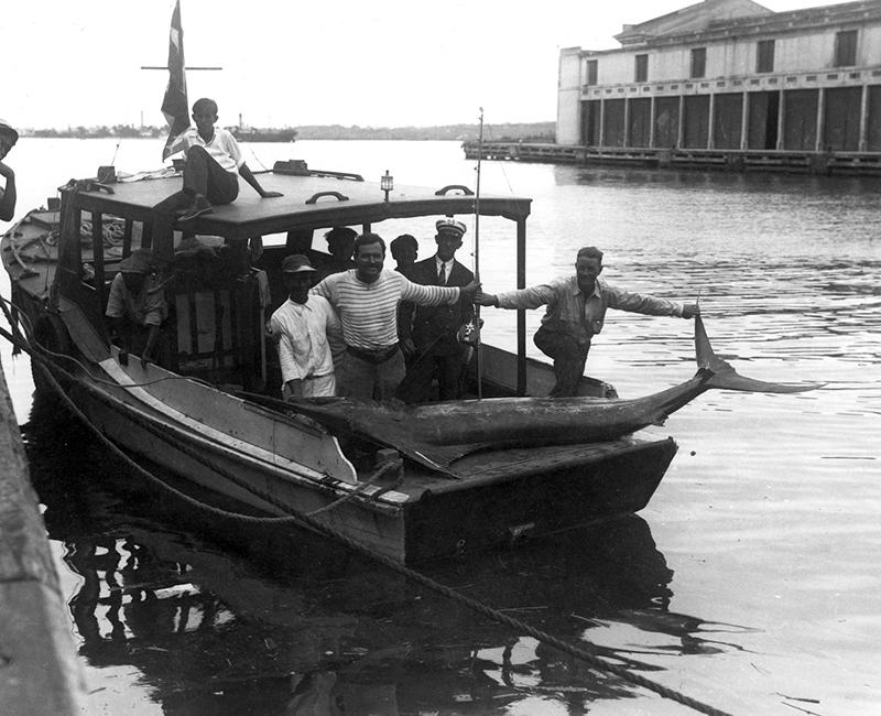 Hemingway gyerekkorától rajongott a horgászatért, senki sem tűnt fel, hogy közben tengeralattjárókra vadászott