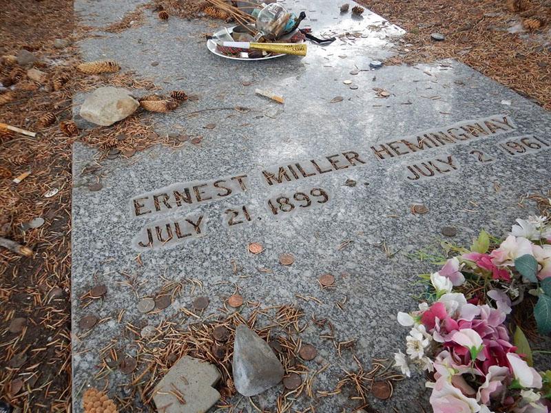 Hemingway sírja az Idaho állambeli Ketchum temetőkertjében