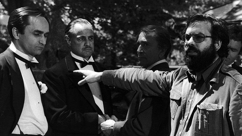 Marlon Brando és Francis Ford Coppola A keresztapa forgatásán