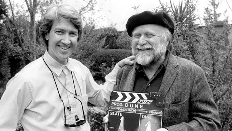 David Lynch és Frank Herbert a Dűne forgatásának első napján