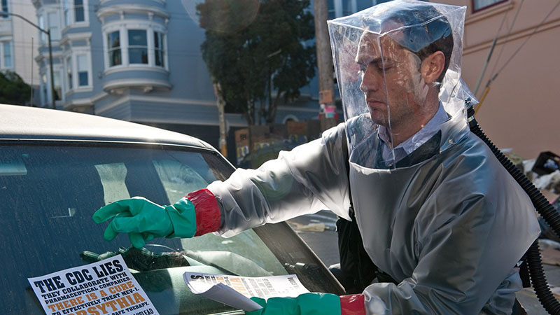 Jude Law a 2011-es Fertőzés című filmben
