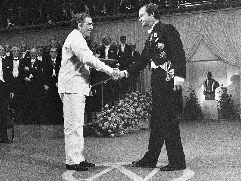 A Nobel-díj átvételekor