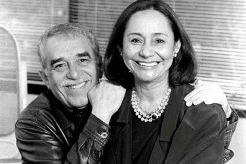 Márquez és felesége, Mercedes Barcha