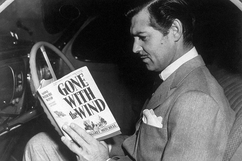 Clark Gable a forgatási szünetben