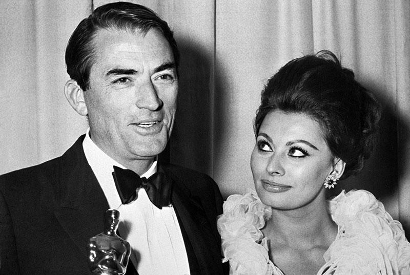 Sophia Lorennel és az Oscar-díjjal