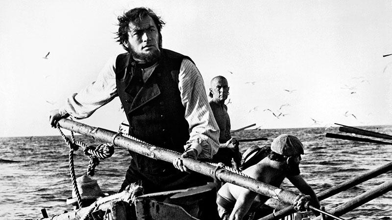Ahab kapitány szerepében a Moby Dick adaptációjában