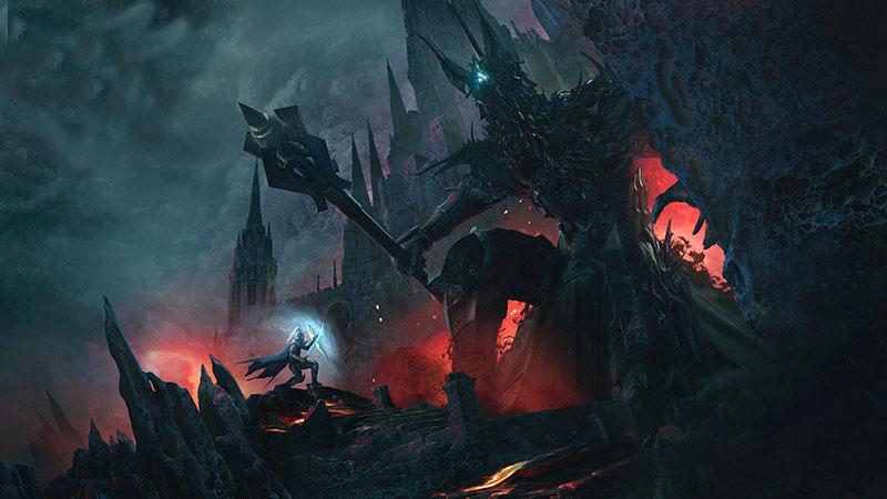 Morgoth Fingolfin ellen egy rajongó ábrázolásában