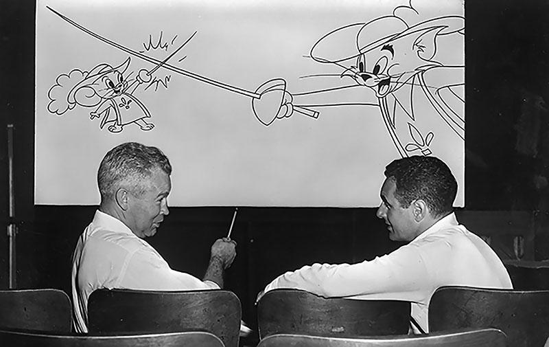 A három muskétás, később Oscar-díjjal jutalmazott Tom és Jerry epizód készítése közben
