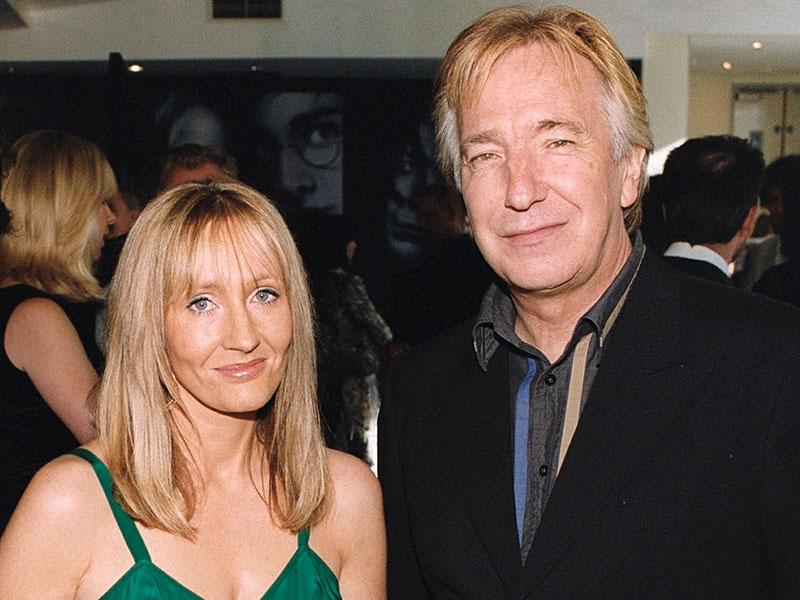 Az írónő és a közönségkedvenc Pitont alakító Alan Rickman