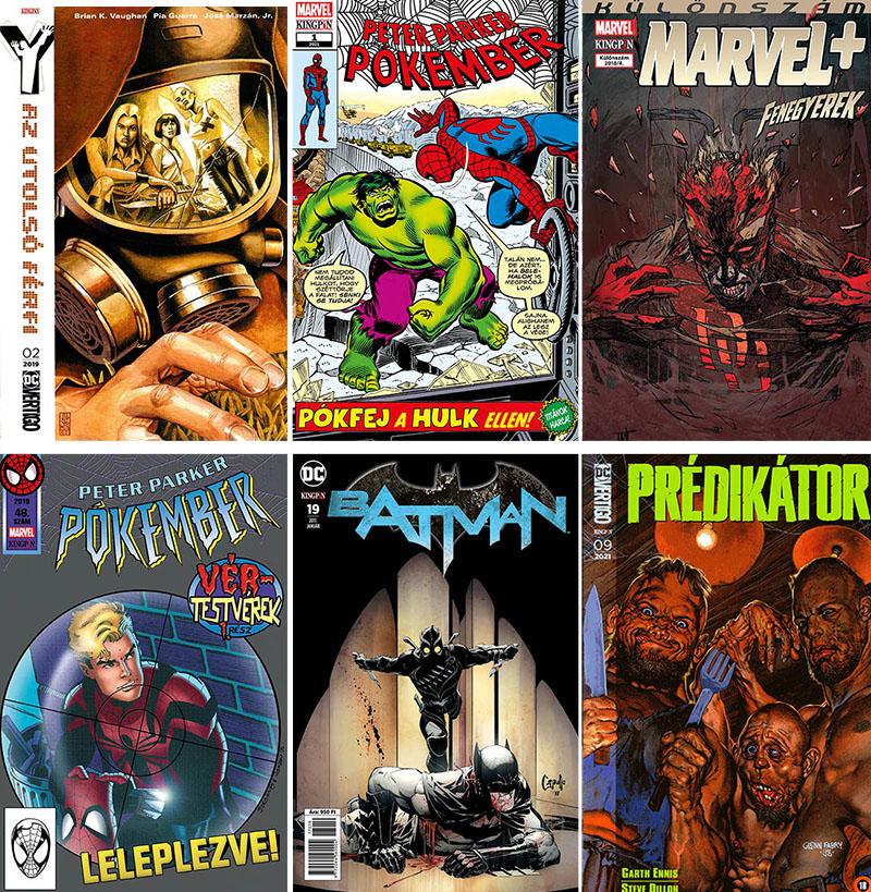 Néhány a Kingpin Kiadó sorozataiból