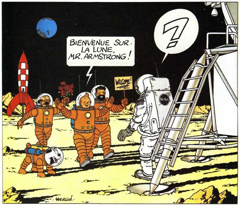 Tintin találkozása Neil Armstronggal