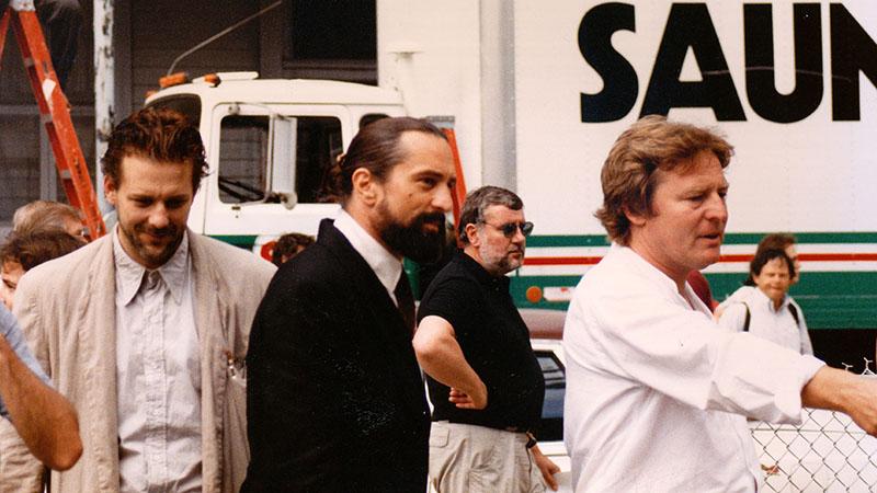 Robert de Niro az Angyalszív forgatásán Mickey Rourke-al