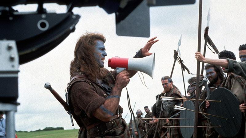 Mel Gibson A rettenthetetlen forgatásán