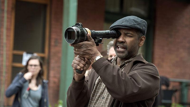 Denzel Washington a Kerítések forgatásán