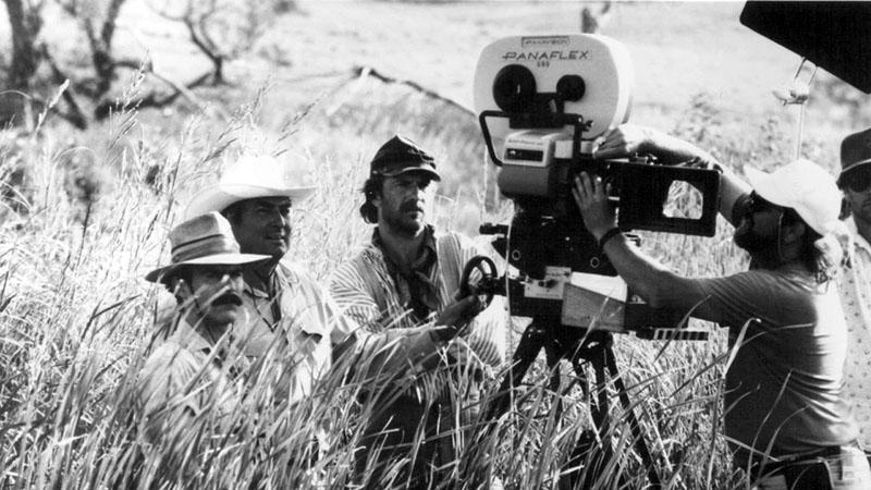 Kevin Costner a Farkasokkal táncoló forgatásán