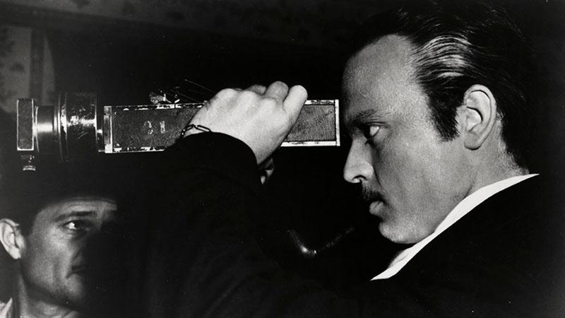 Orson Welles az Aranypolgárt forgatja