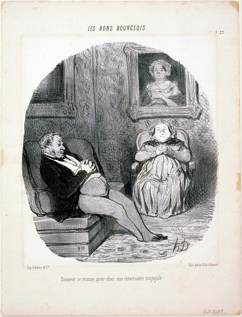 Daumier: Házastársi erkölcsök