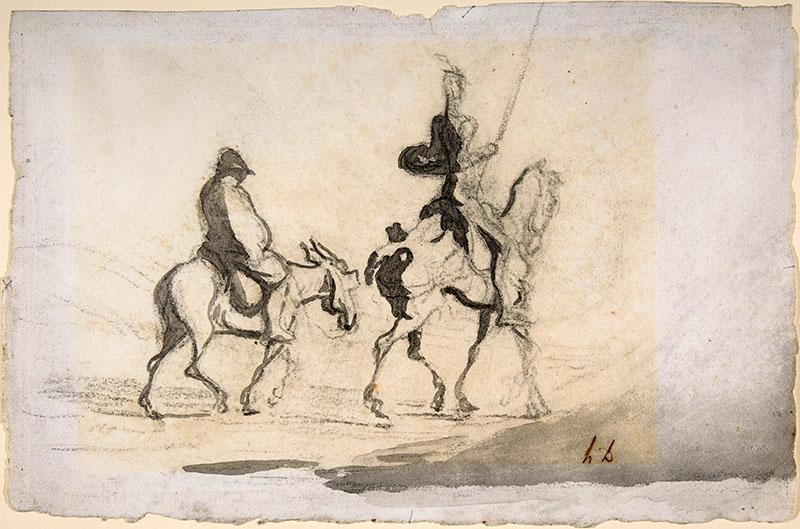 Daumier: Vázlat egyik festményéhez Don Quijotéról