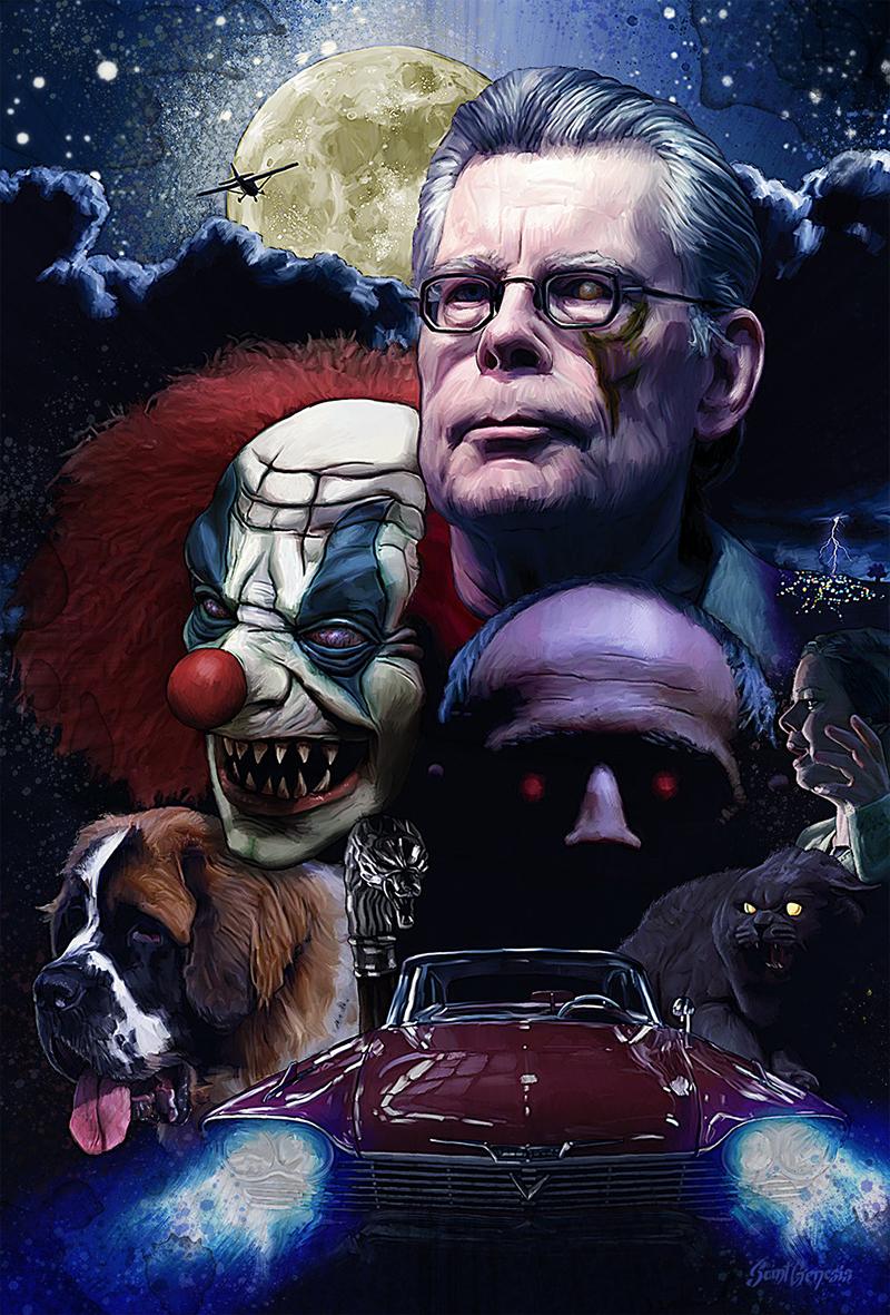 A XX. század legnépszerűbb horrorírója teremtményei társaságában
