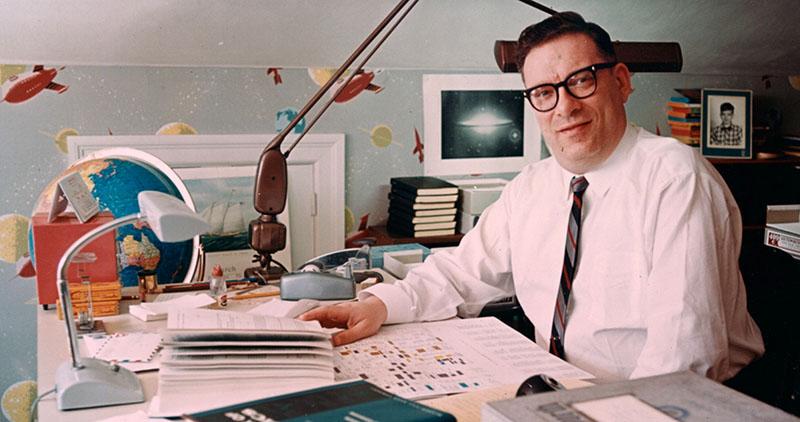 Asimov a dolgozószobájában