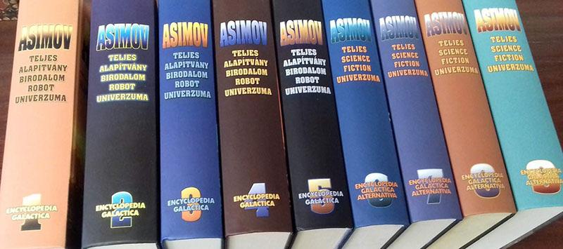A magyarul a Szukits kiadó jóvoltából megjelent teljes Asimov-életmű