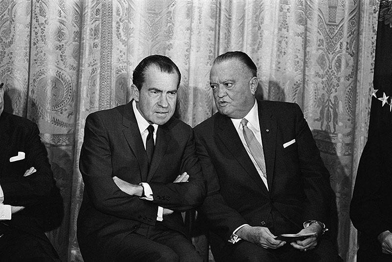 Nixon és Hoover egy Fehér házi fogadáson