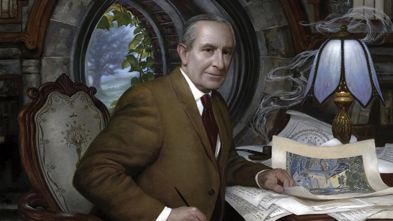 Tolkien Zsákos Bilbó íróasztalánál