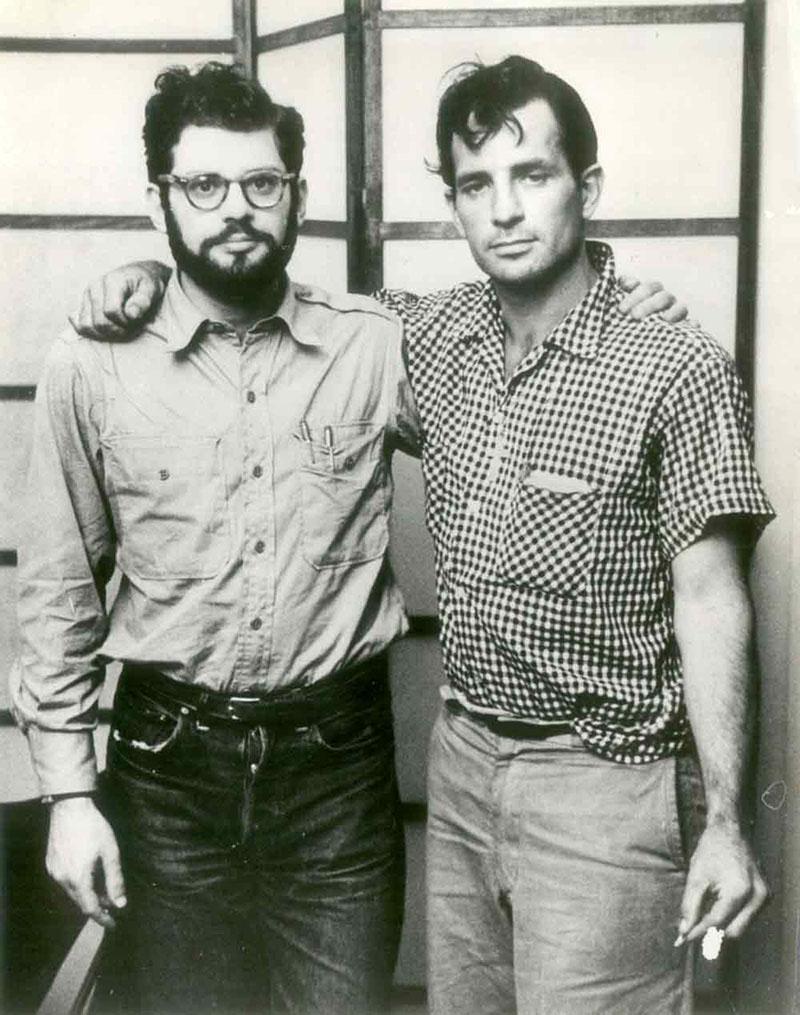 Legjobb barátjával, Allen Ginsberggel
