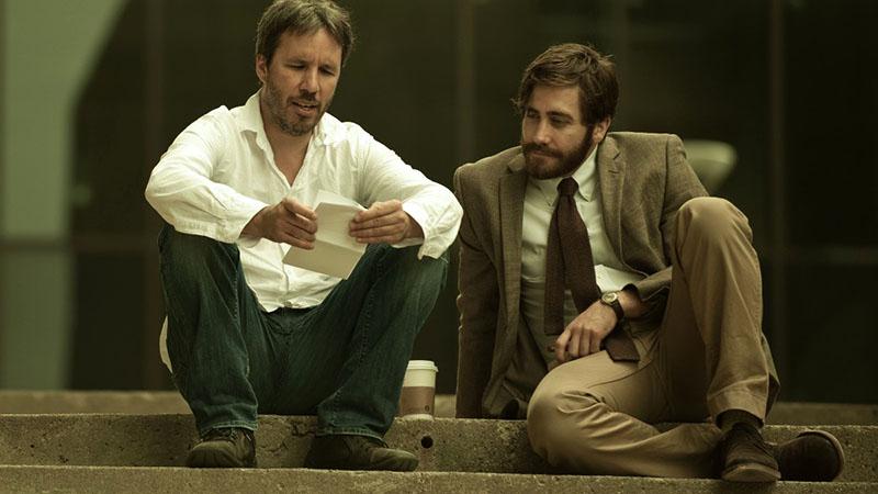 Denis Villeneuve és Jake Gyllenhaal az Ellenség forgatásán