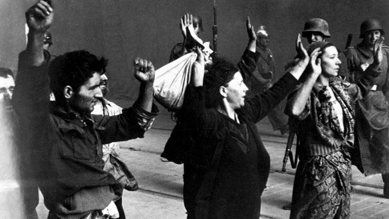 Az SS által elfogott zsidó ellenállók, 1943.