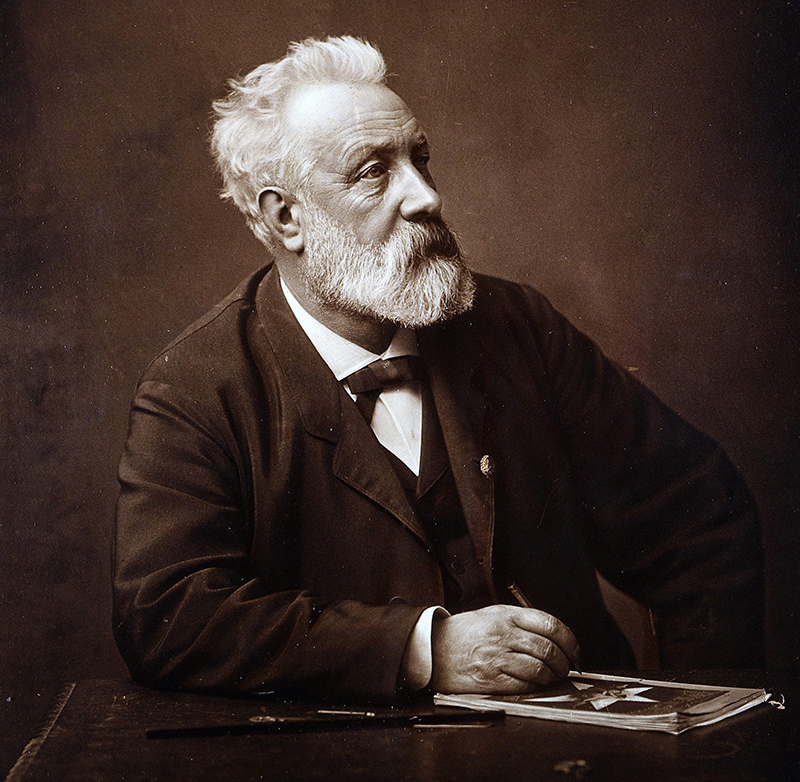 Az író időskori portréja
