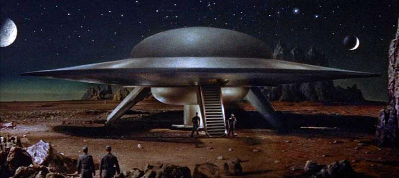 A Tiltott bolygó című film csészealja 1956-ból