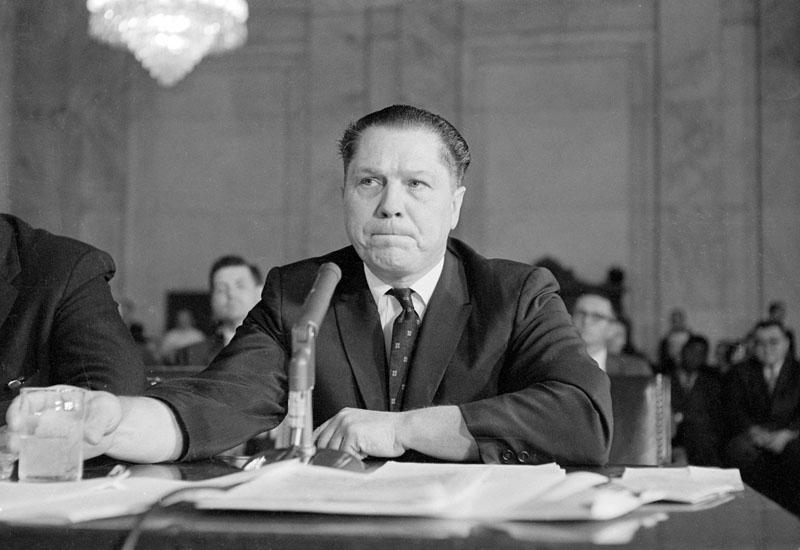 Jimmy Hoffa sok közül az egyik bírósági meghallgatása