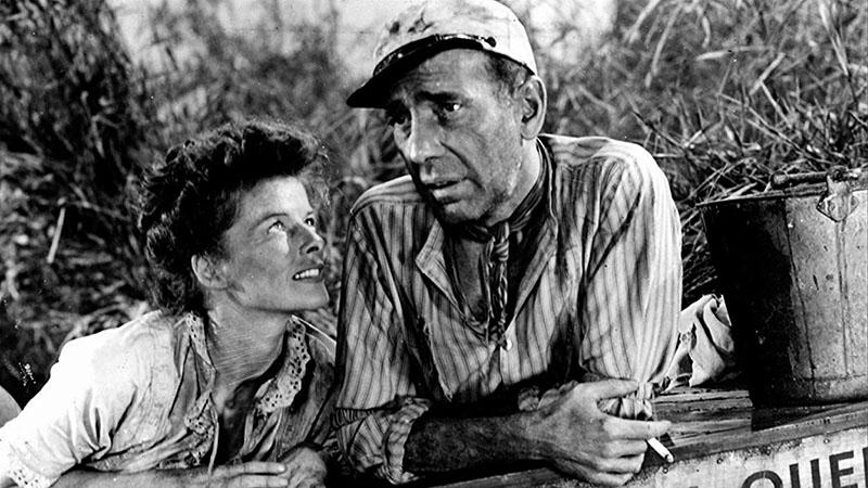 Jó barátjával, Humphrey Bogarttal az Afrika királynőjében
