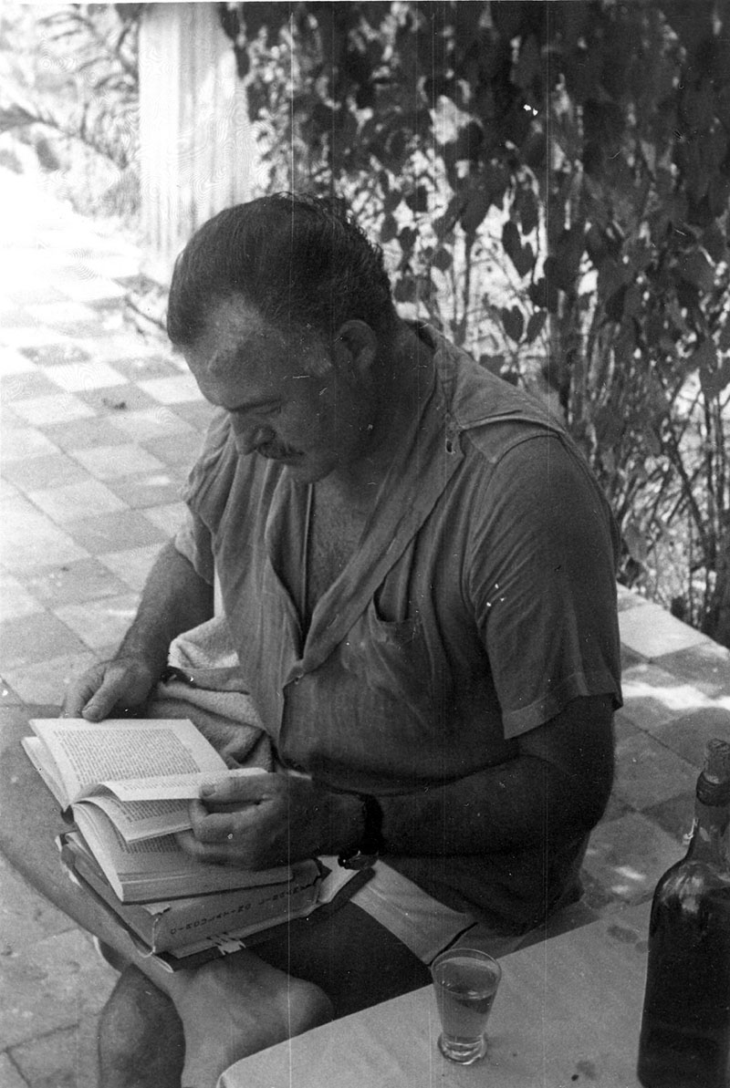 Hemingway Floridából Kubába, onnan Idahóba hurcolta magával házi könyvtárát