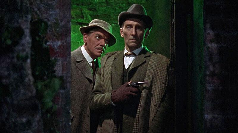 Peter Cushing, mint Sherlock Holmes