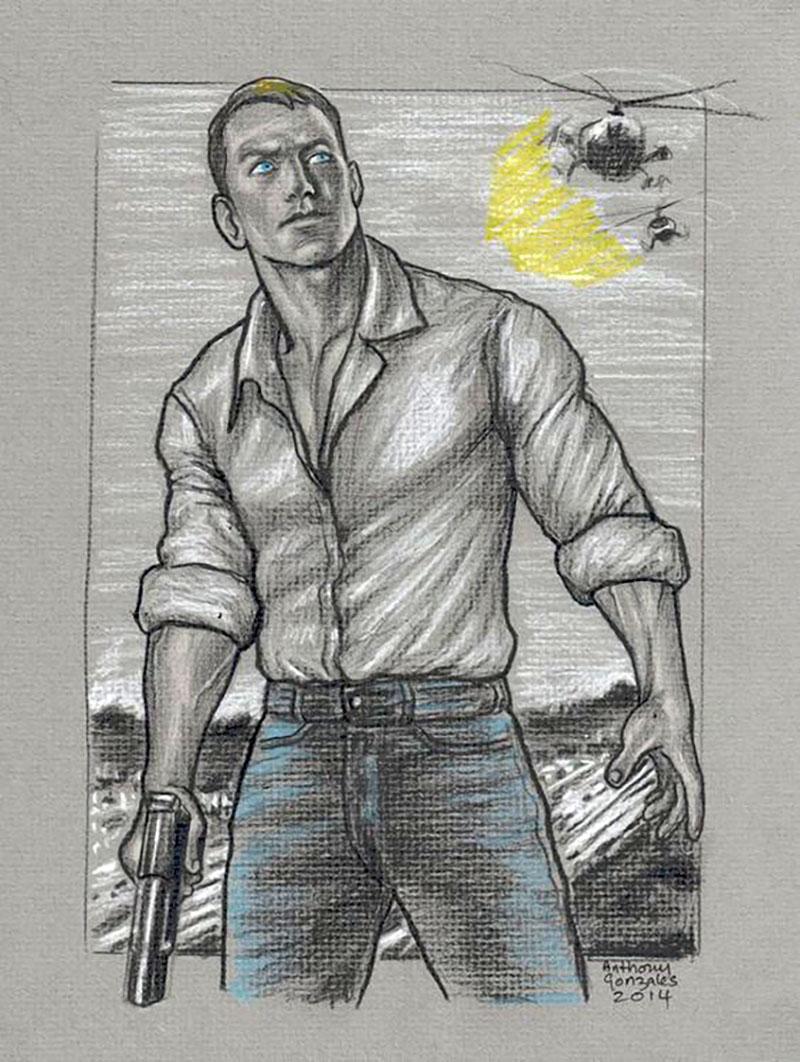 Reacher fan art a Pinteresten (Anthony Gonzalez alkotása)