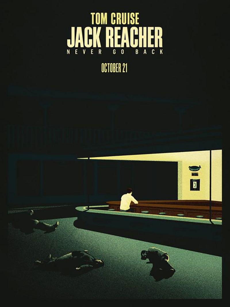 A Nincs visszaút filmes plakátja Edward Hopper stílusában