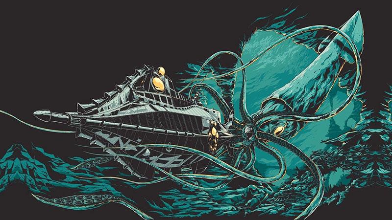 A Nautilus és az óriás tintahal