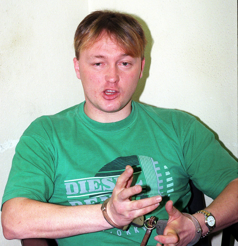 Balogh Lajos az egyik kihallgatásán