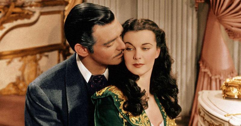 Clark Gable és Vivien Leigh a filmadaptációban